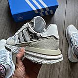Стильные кроссовки Adidas ZX 500 RM, 'White Camo', фото 3