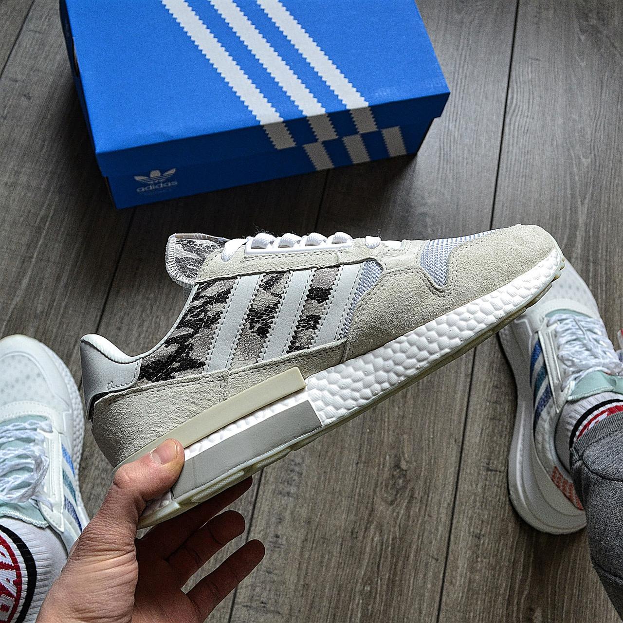 Стильные кроссовки Adidas ZX 500 RM, 'White Camo'