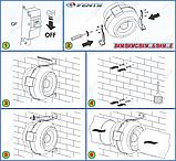 ВЕНТС ВКМ 100 Б малошумный канальный вентилятор (VENTS VKM 100 B), фото 7