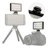 """Накамерный свет Ulanzi Cardlite 12 светодиодов резьба 1/4"""" два светофильтра для смартфонов видео-экшн камер"""