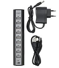 Разветлитель USB HUB 10 PORTS 220V 10 портов 2.0 DZ