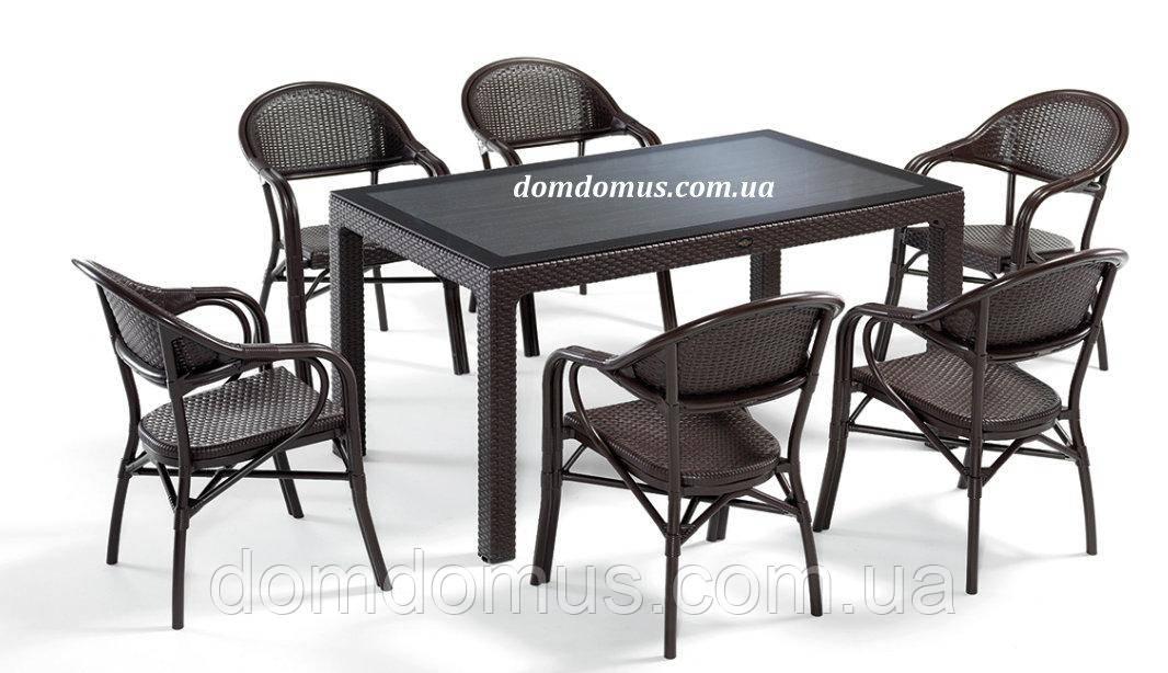 """Комплект високоякісних меблів """"NIRVANA FOR 6"""" (стіл 90*150, 6 крісла) Novussi, Туреччина"""