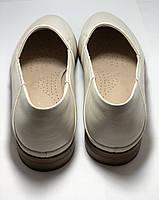 Molka. Жіночі балетки -мокасини з натуральної шкіри.Білий і бежевий 36 38 39 40.Vellena, фото 8
