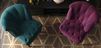 Кресло Бенита голубое - картинка