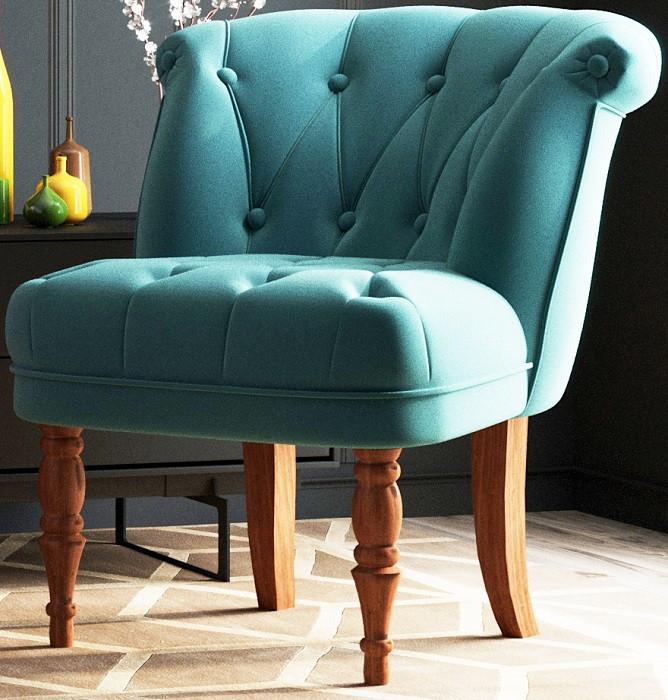 Кресло Бенита голубое (велюр) Shik