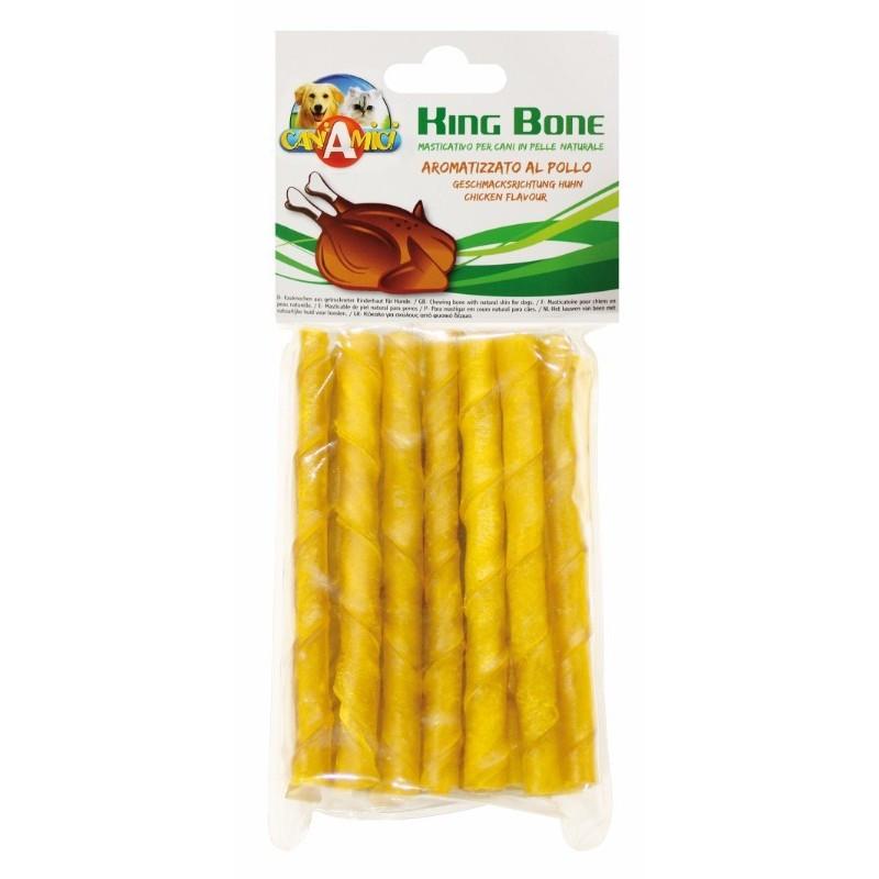 Лакомство для собак жилистый виток со вкусом курицы CROCI KingBone 10 см, 20 шт/уп
