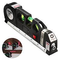 Уровень лазерный, рулетка, линейка Fixit Laser 4 В 1
