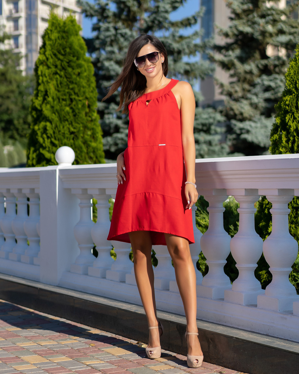 Сарафан женский летний норма красного цвета