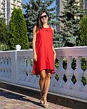 Сарафан женский летний норма красного цвета, фото 2