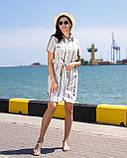 Платье-рубашка в   полоску цвет оливка, фото 3