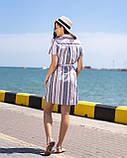 Платье-рубашка всине-розовую  полоску, фото 2