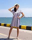 Платье-рубашка всине-розовую  полоску, фото 3