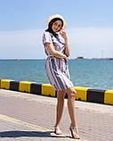 Платье-рубашка всине-розовую  полоску, фото 4
