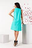 Женский сарафан летний норма бирюзового цвета, фото 3