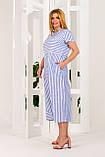 Платье женское летнее в синюю полоску, фото 2