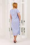 Платье женское летнее в синюю полоску, фото 3