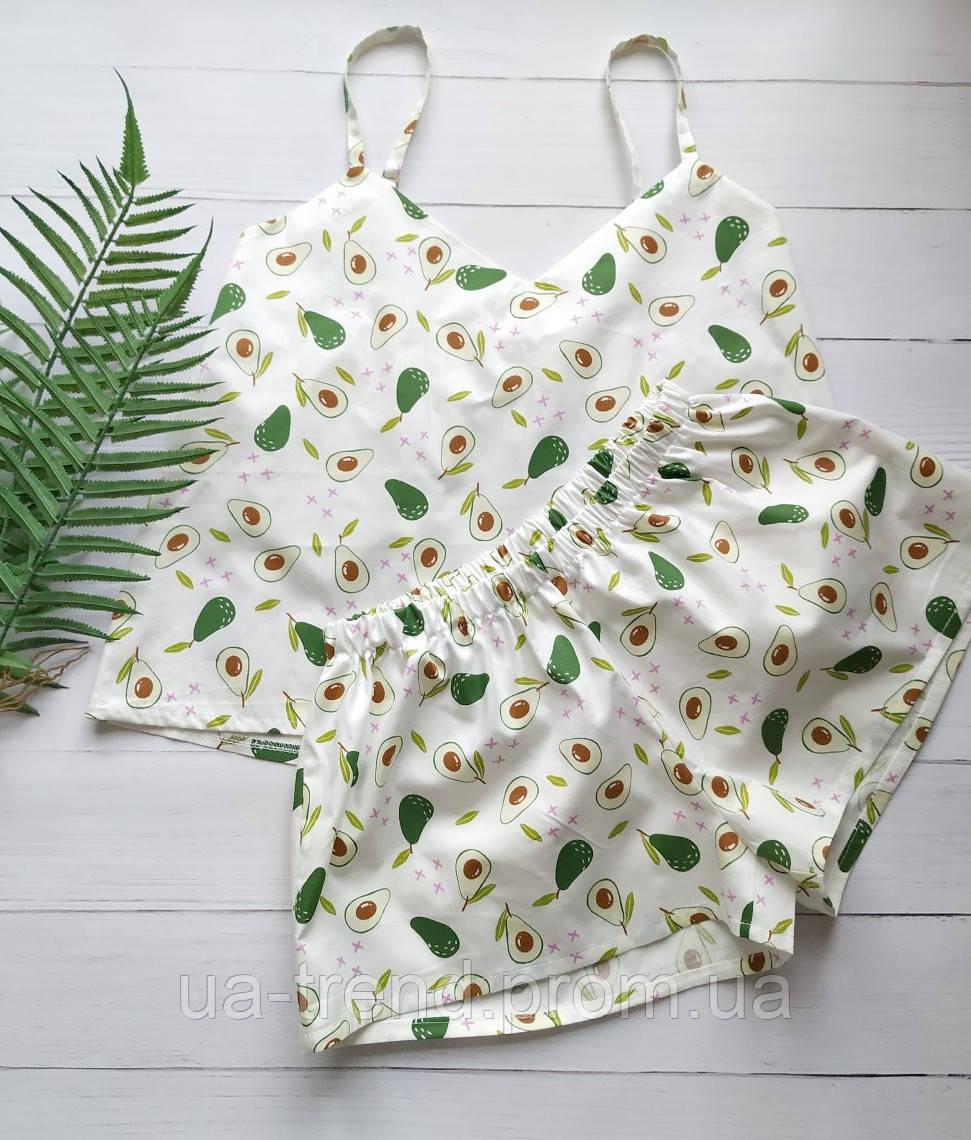 Женская летняя пижама в авокадо