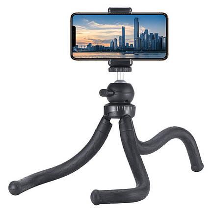 Штатив гибкий Ulanzi MT-07 Tripod прорезиненный трипод со съемной головкой для камер и смартфонов, фото 2