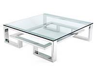 Дизайнерский стеклянный журнальный стол