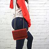 Сумка piton lady красная из натуральной кожи с оттиском, фото 6