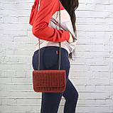Сумка piton lady красная из натуральной кожи с оттиском, фото 7
