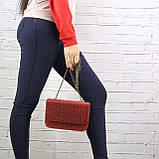 Сумка piton lady красная из натуральной кожи с оттиском, фото 9