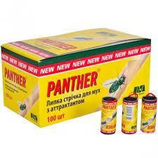 Липка стрічка від мух Panther (100 шт в уп.)