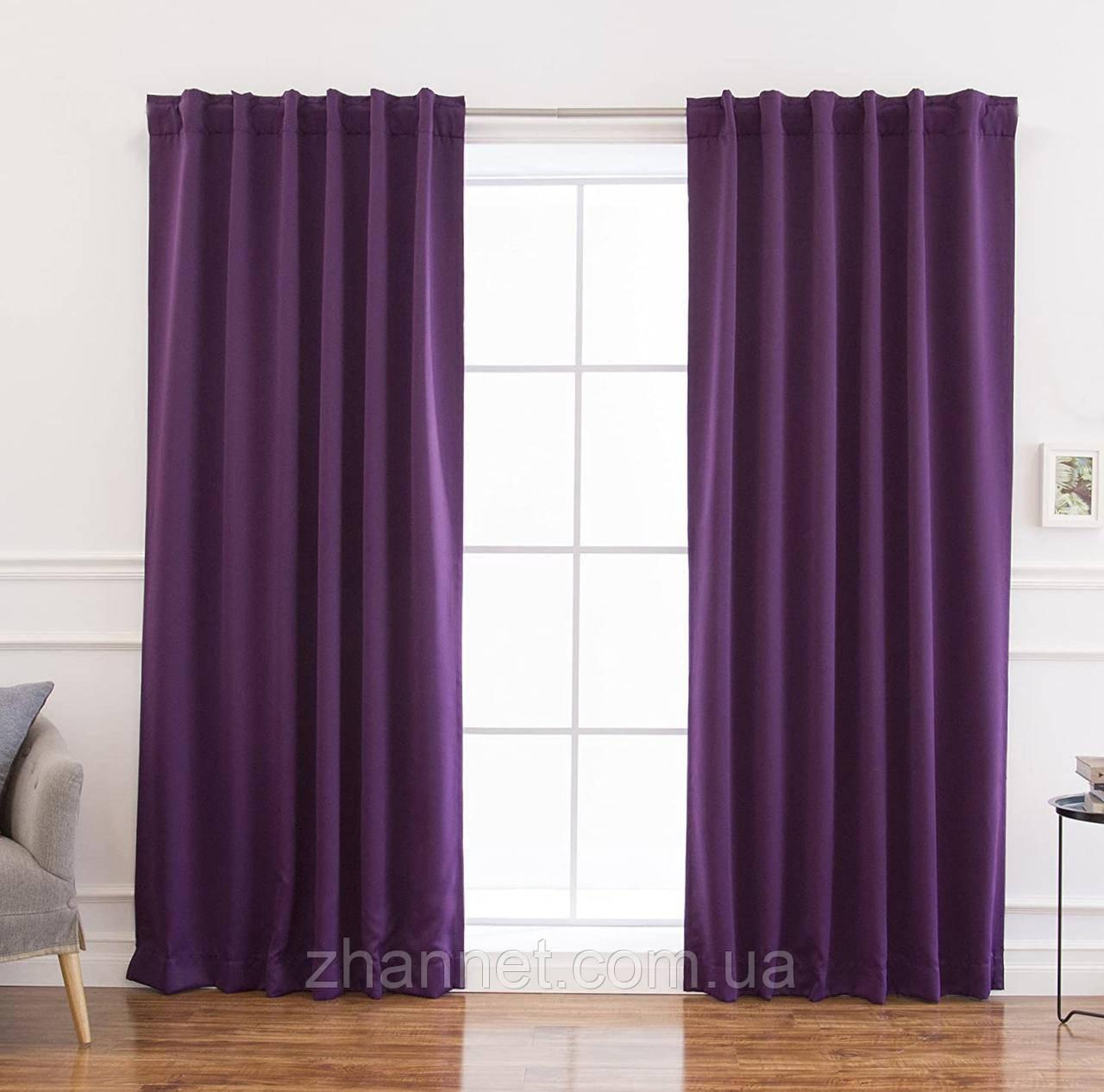 Комплект Штор Блекаут фиолетовый (150517821)