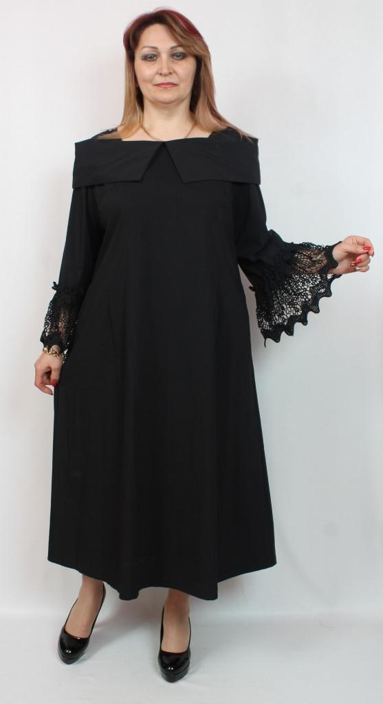 Турецкое вечернее женское платье с гипюром, больших размеров 52-64