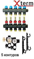 AFRISO ProCalida EF 1/5 на 5 контуров коллектор для теплого пола с расходомерами (гребенка) Афризо 80825