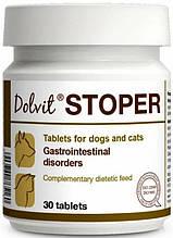 Dolvit Stoper (Долвіт Стопер). Засіб для лікування гострої діареї у котів і собак, 30 табл.