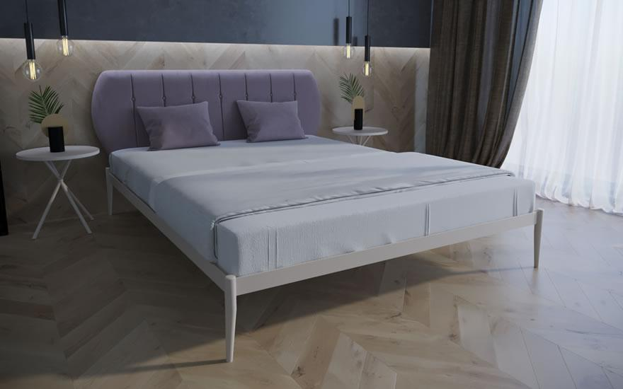 Ліжко двоспальне металева Бьянка 01 TM Melbi