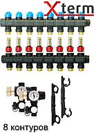 AFRISO ProCalida EF 1/8 на 8 контуров коллектор для теплого пола с расходомерами (гребенка) Афризо 80828