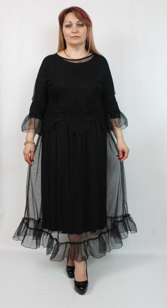 Турецкое вечернее батальное платье с рюшами, больших размеров 52-60
