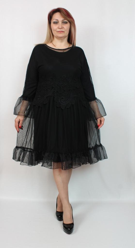 Турецкое вечернее батальное платье с рюшами, больших размеров 50-58