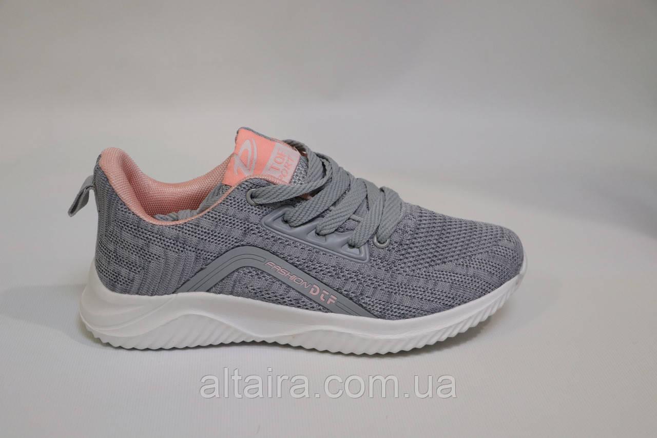 Жіночі кросівки сірі, рожеві, сітка.Жіночі кросівки сірі, розові, сітка.