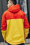 Мужская куртка-ветровка с капюшоном (желто/оранжевая), фото 2