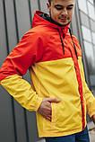 Мужская куртка-ветровка с капюшоном (желто/оранжевая), фото 3