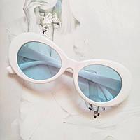 Солнцезащитные очки овал Белый с голубым