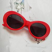 Солнцезащитные очки овал Красный с черным