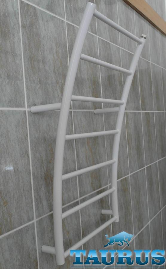 Большой н/ж полотенцесушитель Wave 10/ 500 мм форме волны. Водяной. 1/2. Украина