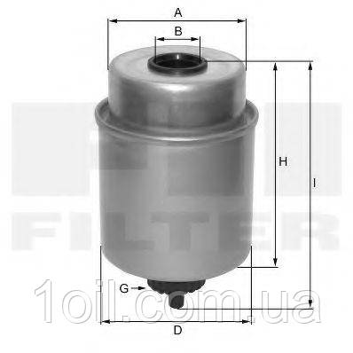 Фільтр паливний MANN WK8154 (KC502, аналог KC223)