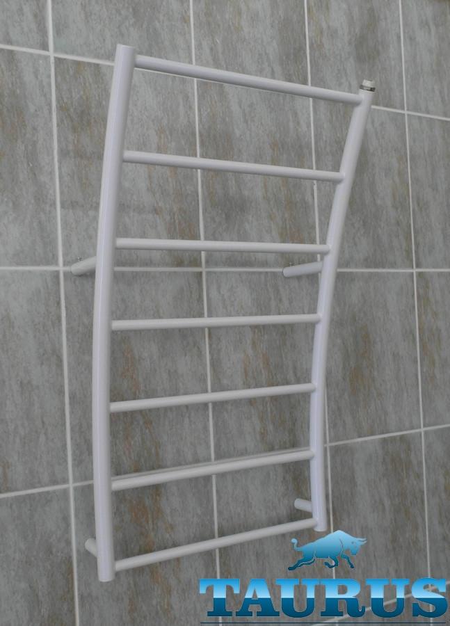 Высокий нержавеющий полотенцесушитель Wave 12/ 500 мм форме волны. 1/2