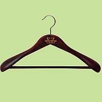 Плечики деревянные с перекладиной для верхней одежды