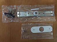 Замок роллет крестовой ключ с двумя штырями планка белая