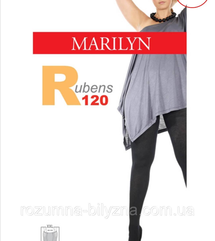Колготи чорні бавовна TM Marilyn розмір 3/4