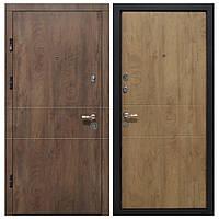 Дверь входная Министерство Дверей мдф/мдф ПК-185 Элит Спил дерева коньячный/медовый 2050х860мм левая