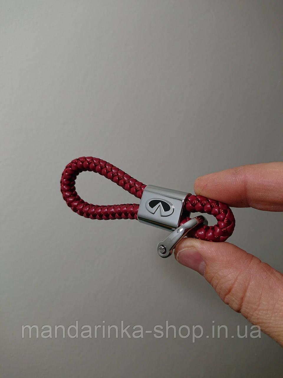 Брелок (бордовий) для автомобільних ключів Infiniti