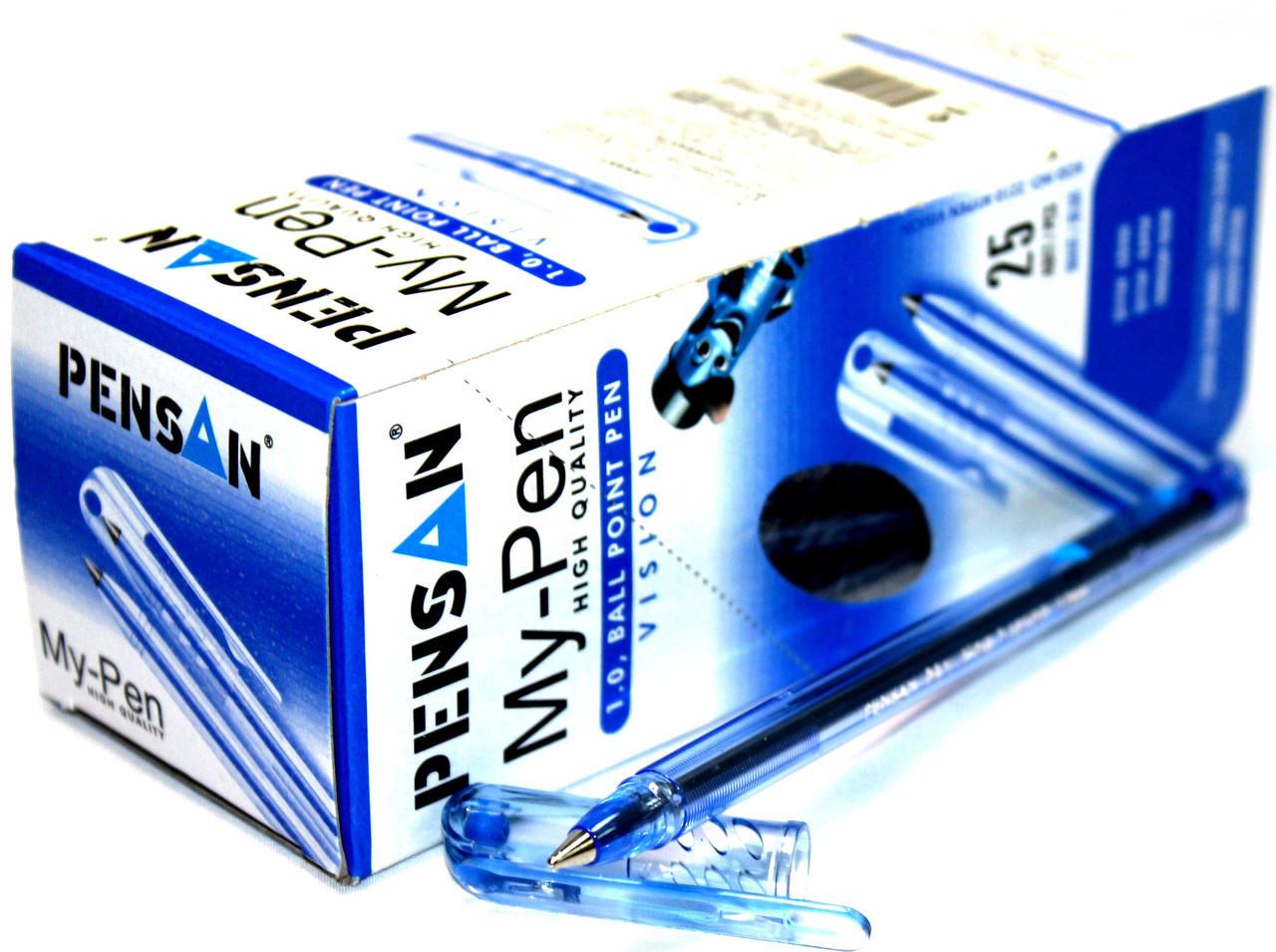 """Ручки шариковые """"My Pen"""" (25шт/уп) синие"""