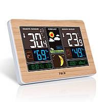 Многофункциональная цифровая метеостанция FanJu FJ3378 с термометром, гигрометром и барометром и портом USB
